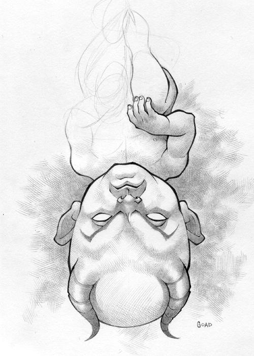 500x700 Devil Baby Sketch By Jasongoad