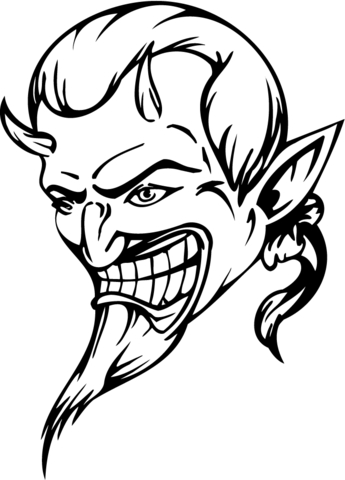345x480 Devil Coloring Page Free Printable Coloring Pages