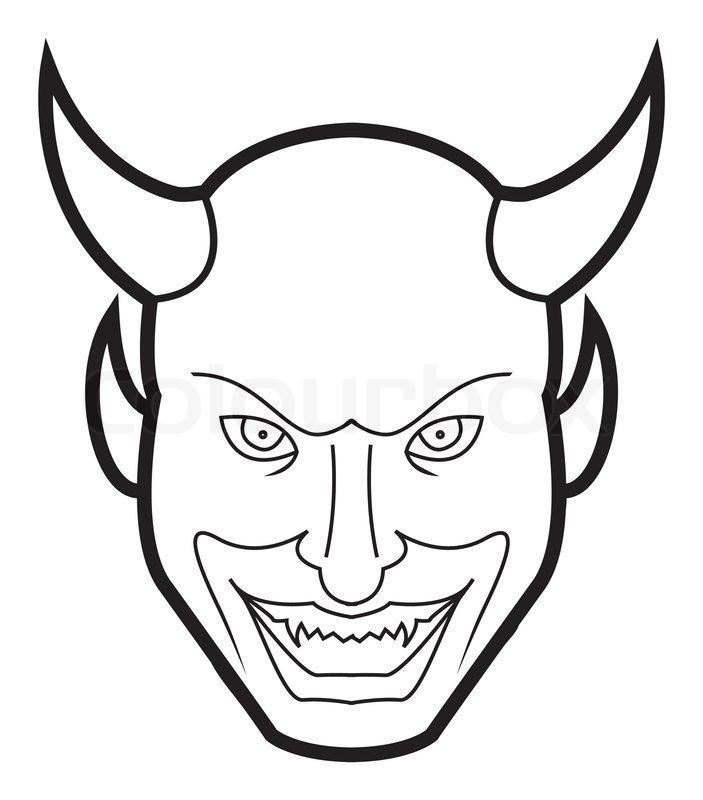 703x800 Devil Face Stock Vector Colourbox