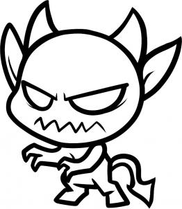 262x302 How To Draw How To Draw A Devil For Kids