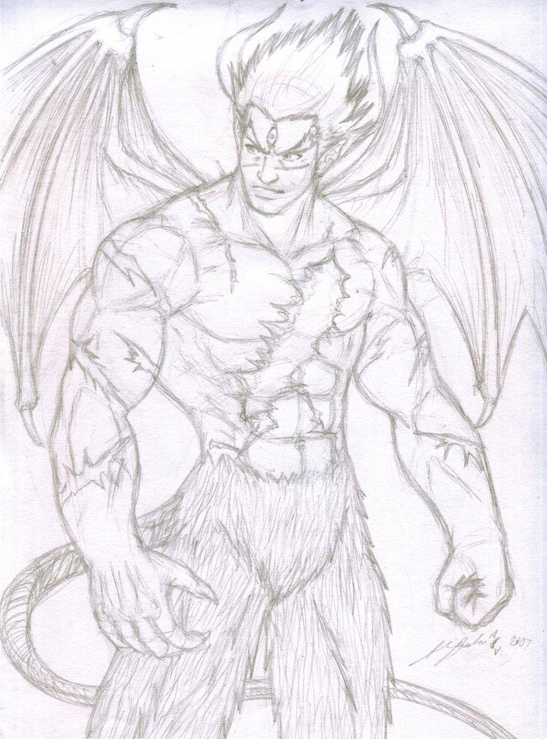 769x1039 Rough Sketch Devil Kazuya By Thealvintaker