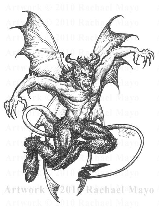 527x695 Tremorworks Devil Bw By Rachaelm5