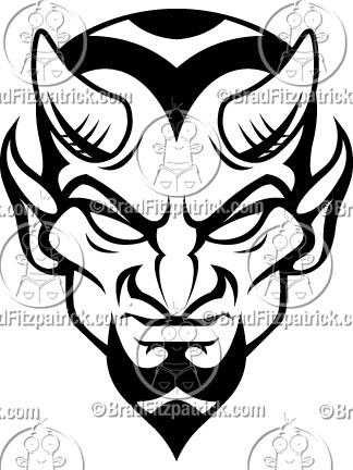 324x432 Clip Art Black And White Funny Devil Clipart