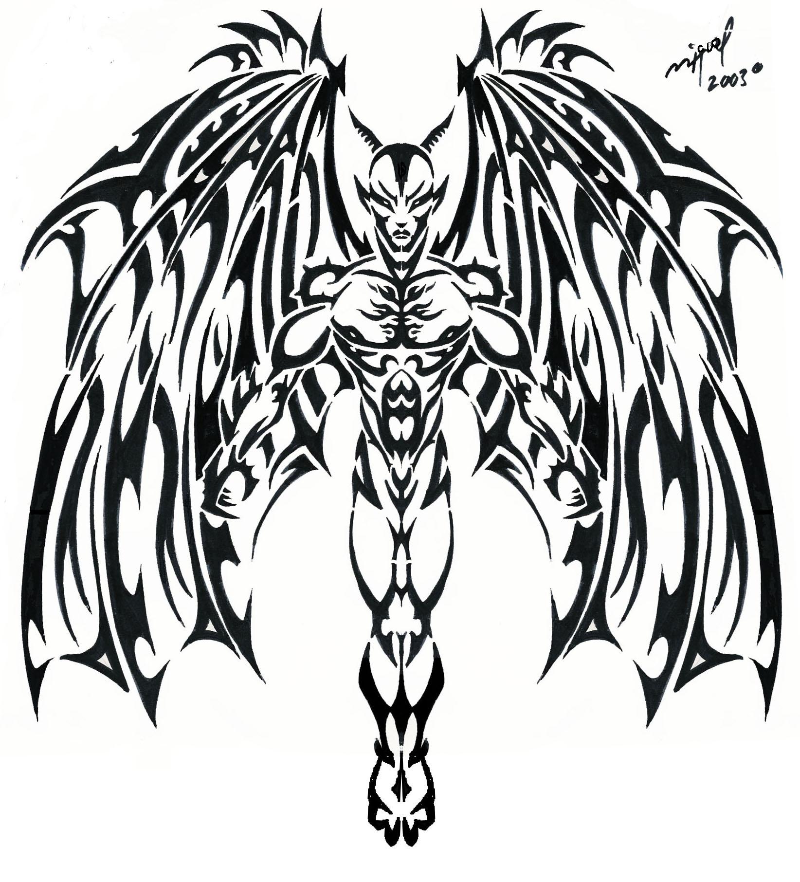 Devil Heart Drawing