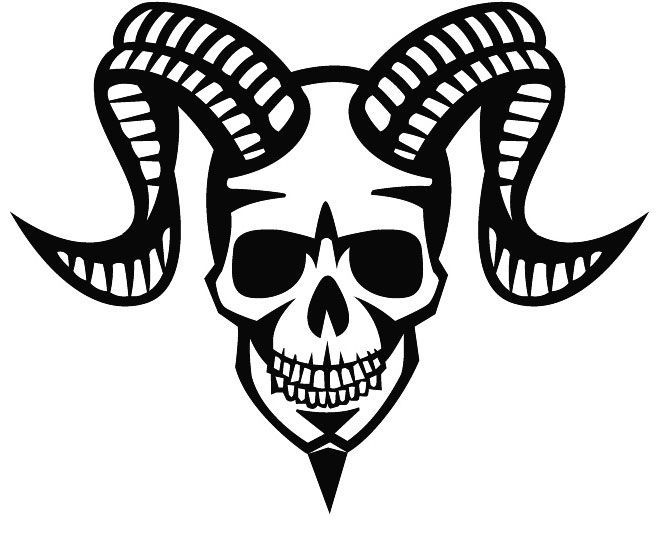 660x537 Devil Skull With Horns Car Decal Sticker