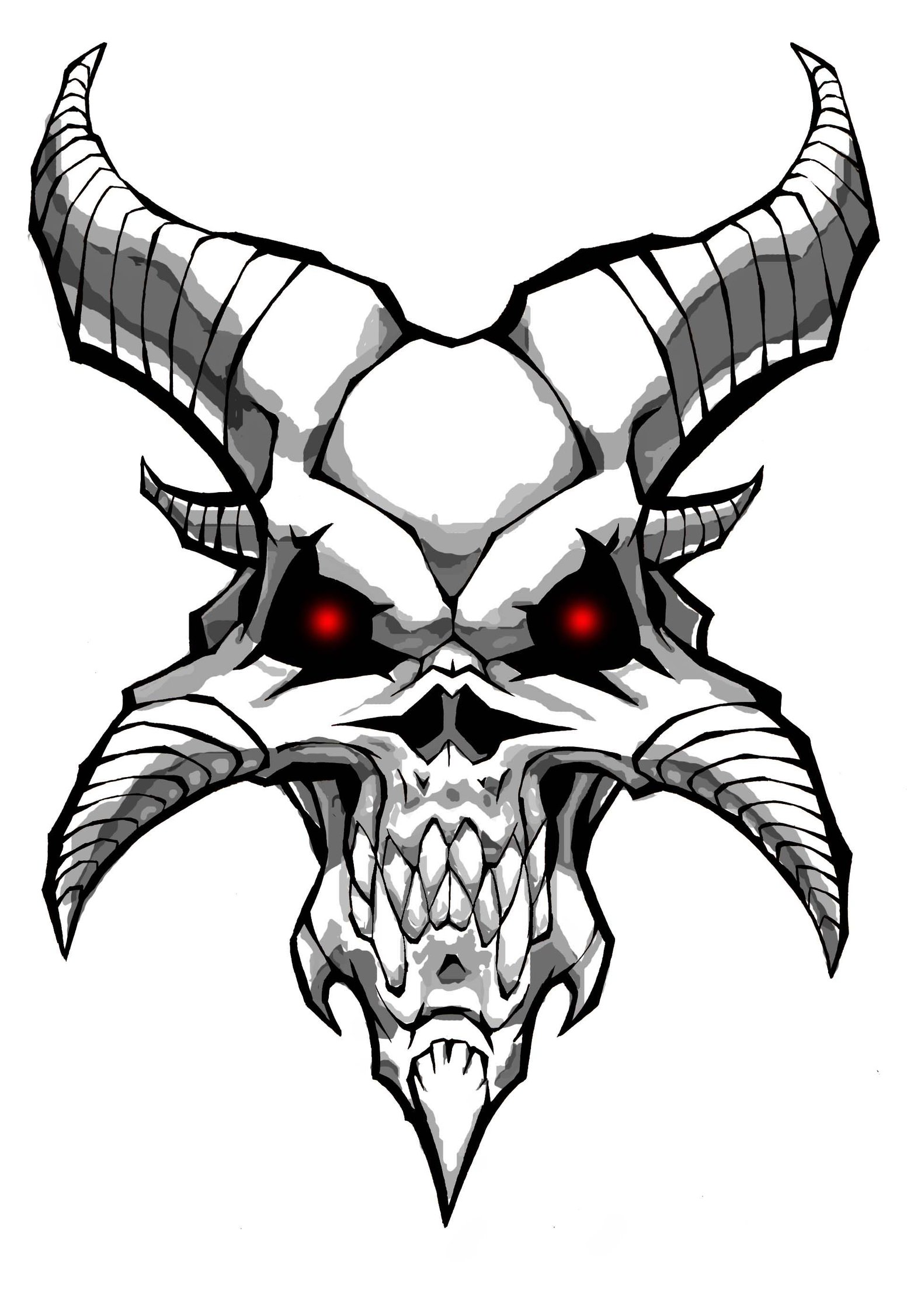 1553x2252 Demon Skull By Williamsquid On Skullz Legion