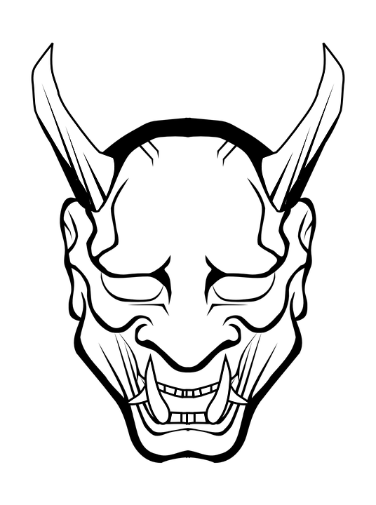 536x720 Devil Head Clipart Black And White