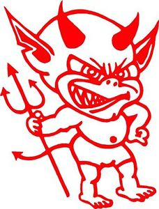 228x300 Cheeky Devil With Horns Amp Fork Sticker Decal
