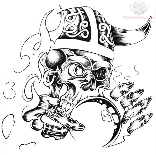 640x636 Devil Skull Tattoo Design