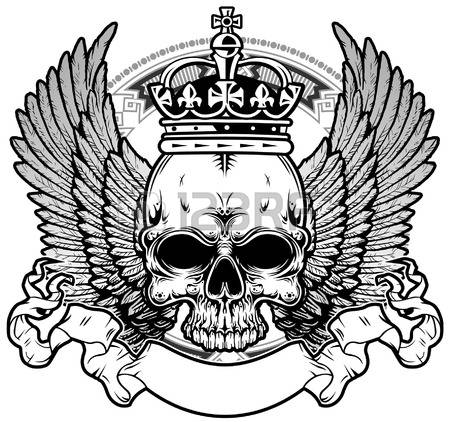 450x422 Drawn Crown Skull
