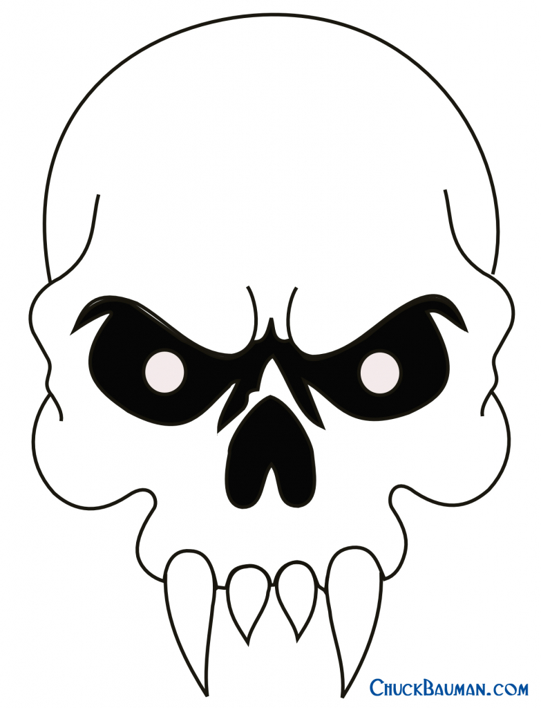 783x1024 Easy Skull Drawings How To Draw A Devil Skull Devil Skull Tattoo