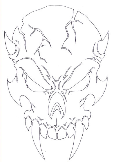 400x561 Image 1 Skull Art Tattoo, Stenciling And Drawings