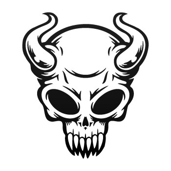 350x350 Stickers Factory Decal Devil Skull 02516 Stickers