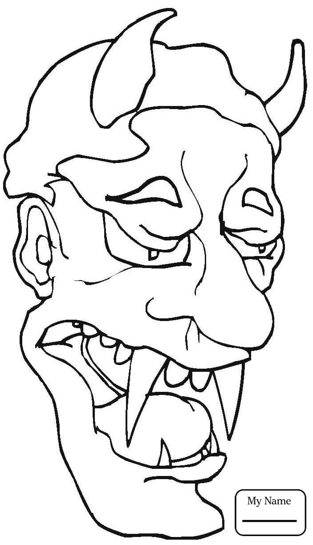 703x1224 Coloring Pages For Kids Devil Skull Fantasy Mythology Demons
