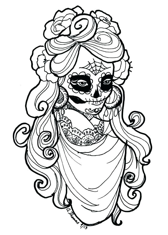 640x891 Dia De Los Muertos Coloring Book Also Free Art For Day Of The Dead