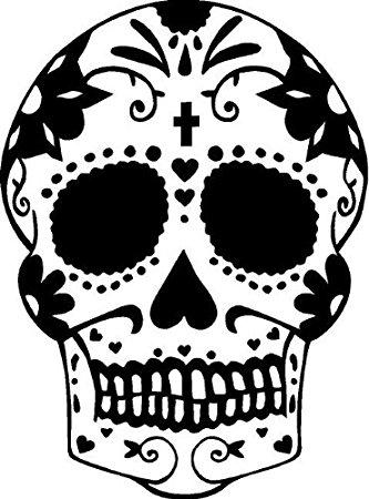 Dia De Los Muertos Skull Drawing