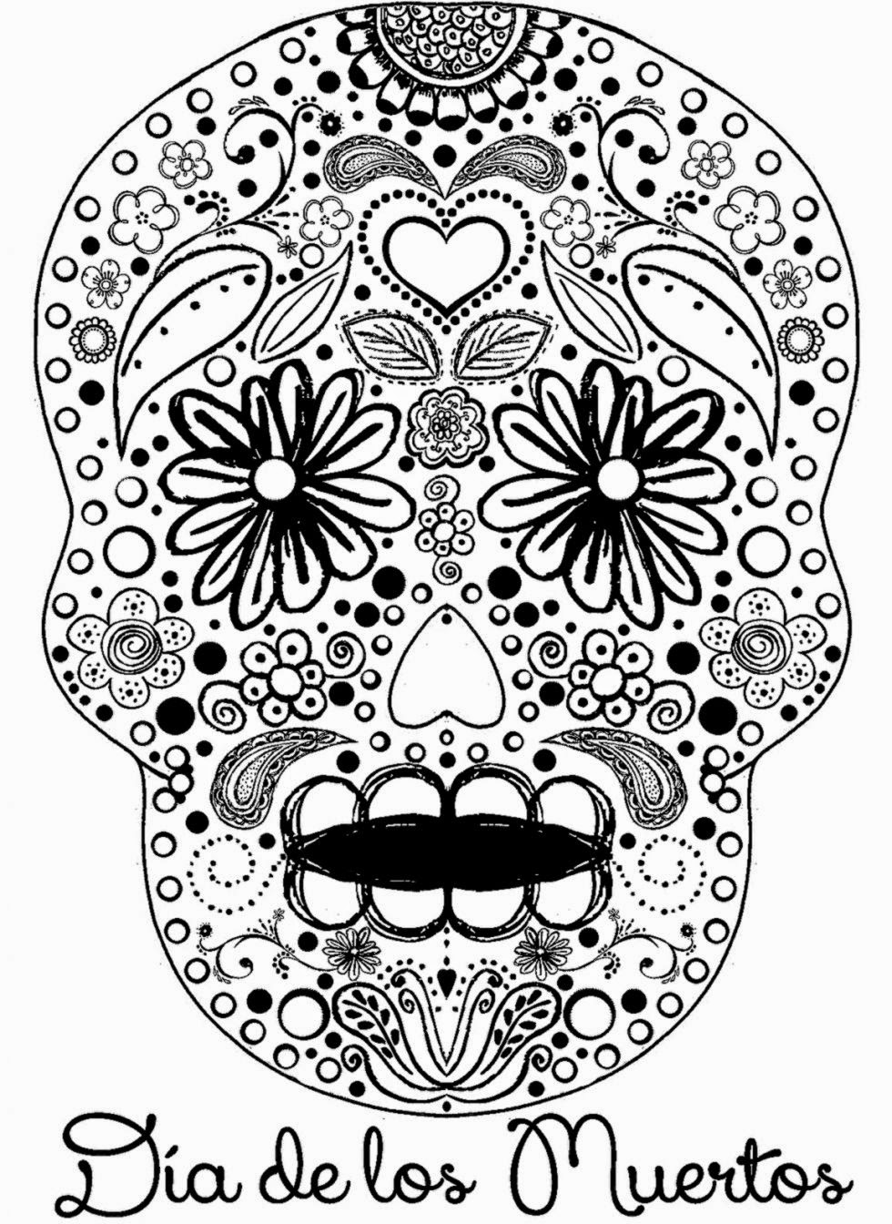 980x1344 Dia De Los Muertos Coloring Pages To Download And Print For Free