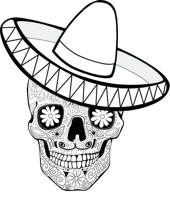 569x660 Dia De Los Muertos Skull Coloring Pages Printable Coloring Mask