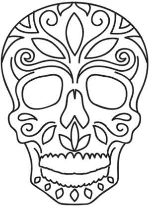 300x418 Dia De Los Muertos Skull Urban Threads Unique And Awesome