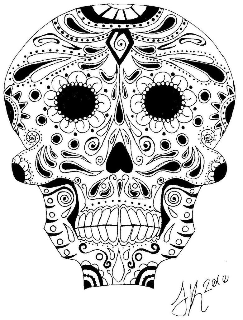 780x1024 Dia De Los Muertos Skull 2 By Inionanghrian
