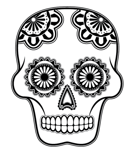 450x512 How To Create A Detailed Vector Sugar Skull Illustration
