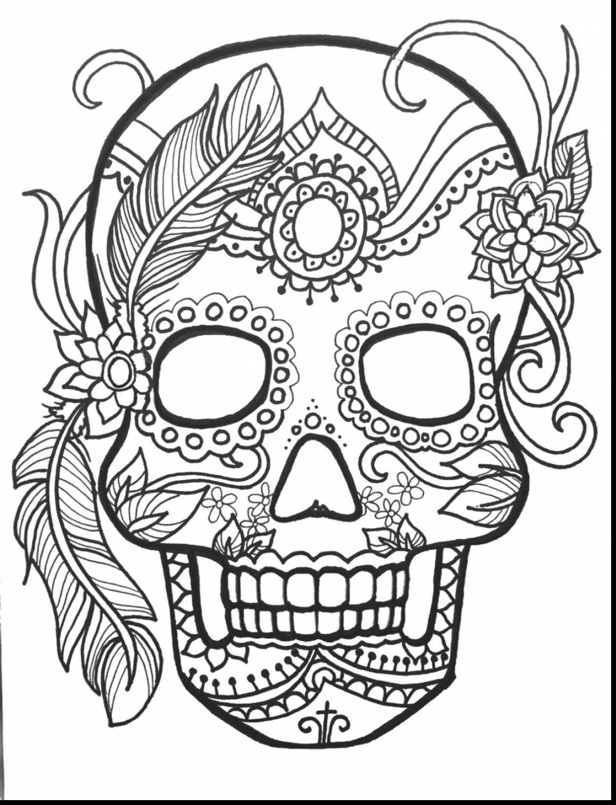 1263x1650 Fantastic Dia De Los Muertos Skull Coloring Page With Day