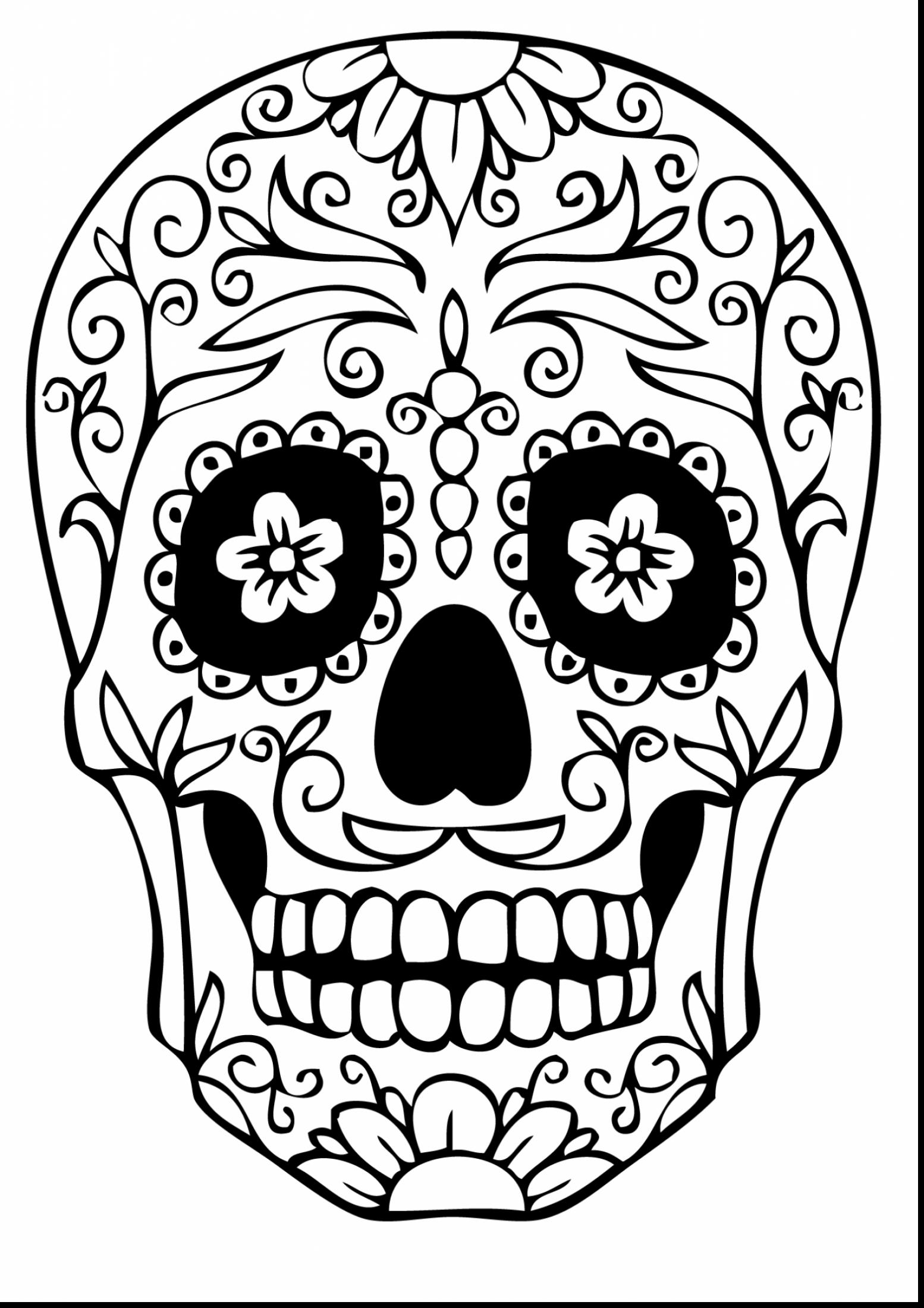 1554x2200 Day Of The Dead Mask Coloring Page