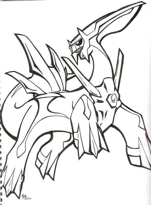 Charming 600x812 Pokemon Coloring Pages Dialga Coloring Page Pokemon Dialga And