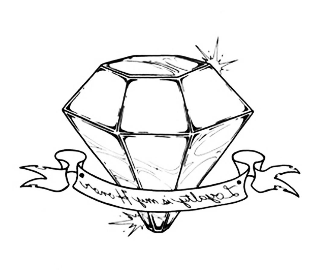 1024x925 How To Draw A 3d Diamond 3d Diamond Drawing Diamond