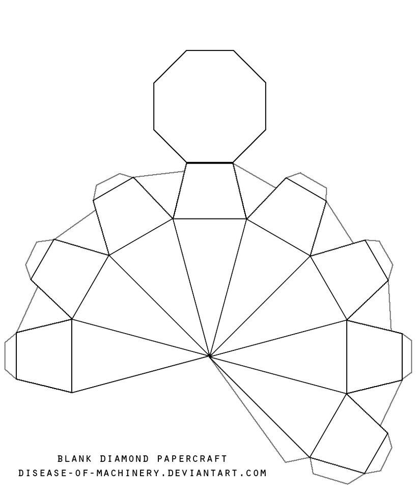 825x968 Blank Diamond Template By Disease Of Machinery