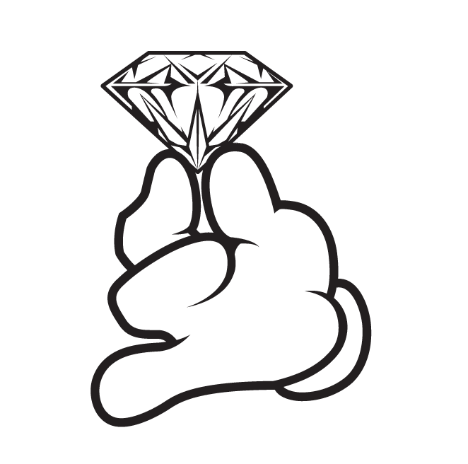662x656 Cartoon Hand Gloved Holding Diamond Dope Swag Yolo Hype Tight Mens
