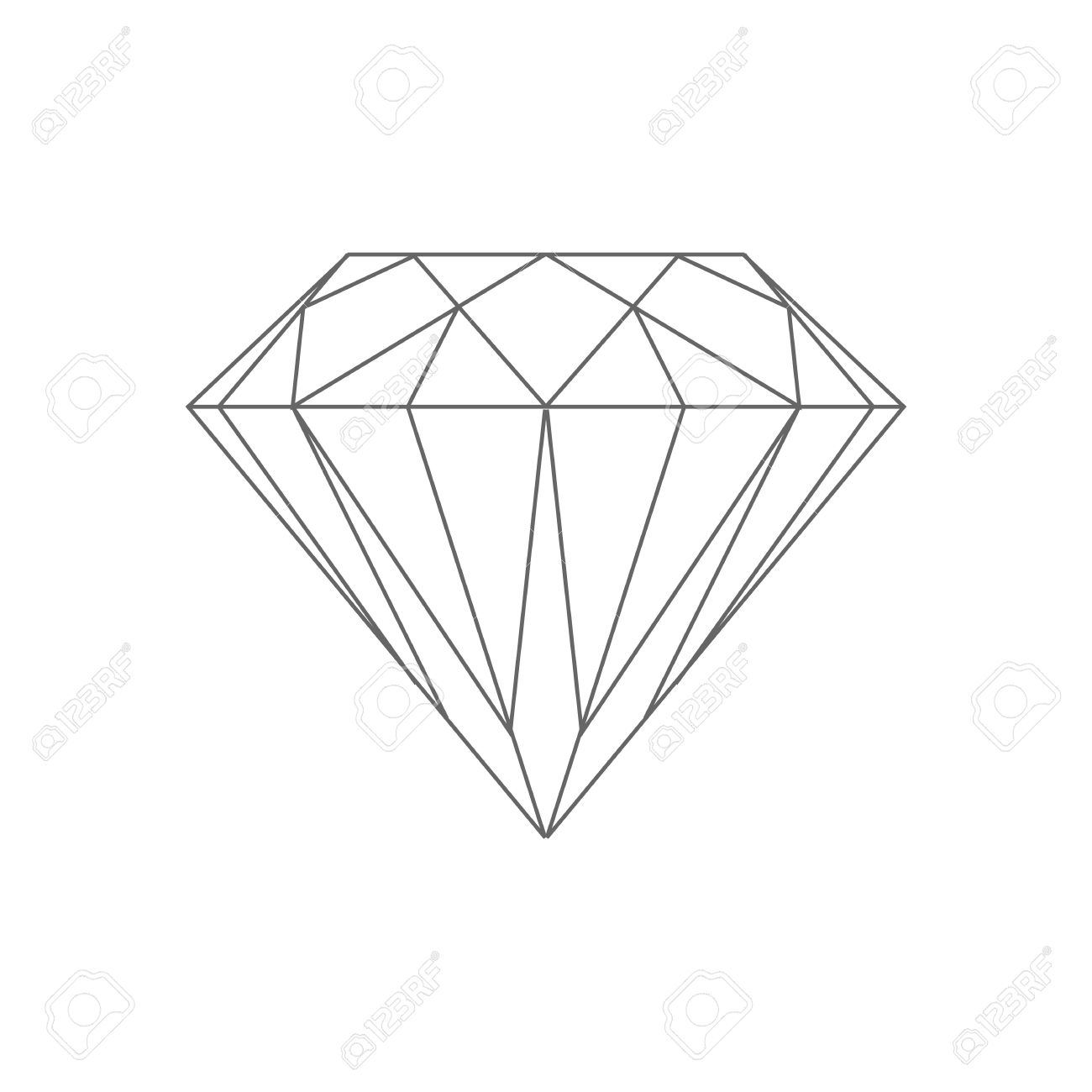 Line Drawing Diamond : Diamond drawing at getdrawings free for personal use