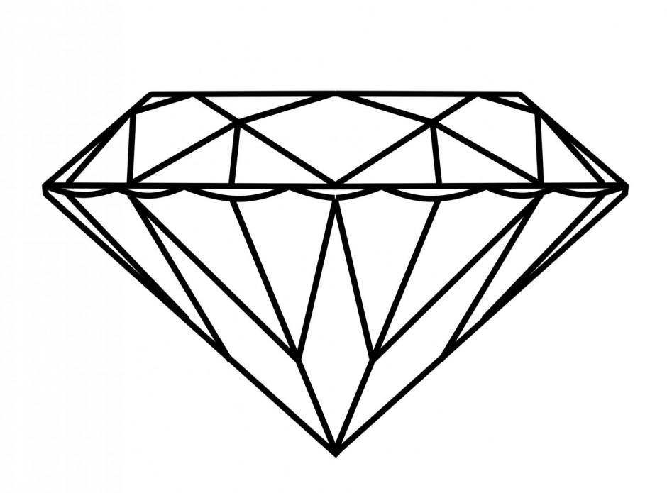 photo about Diamond Printable referred to as Diamond Drawing Template at  Absolutely free for
