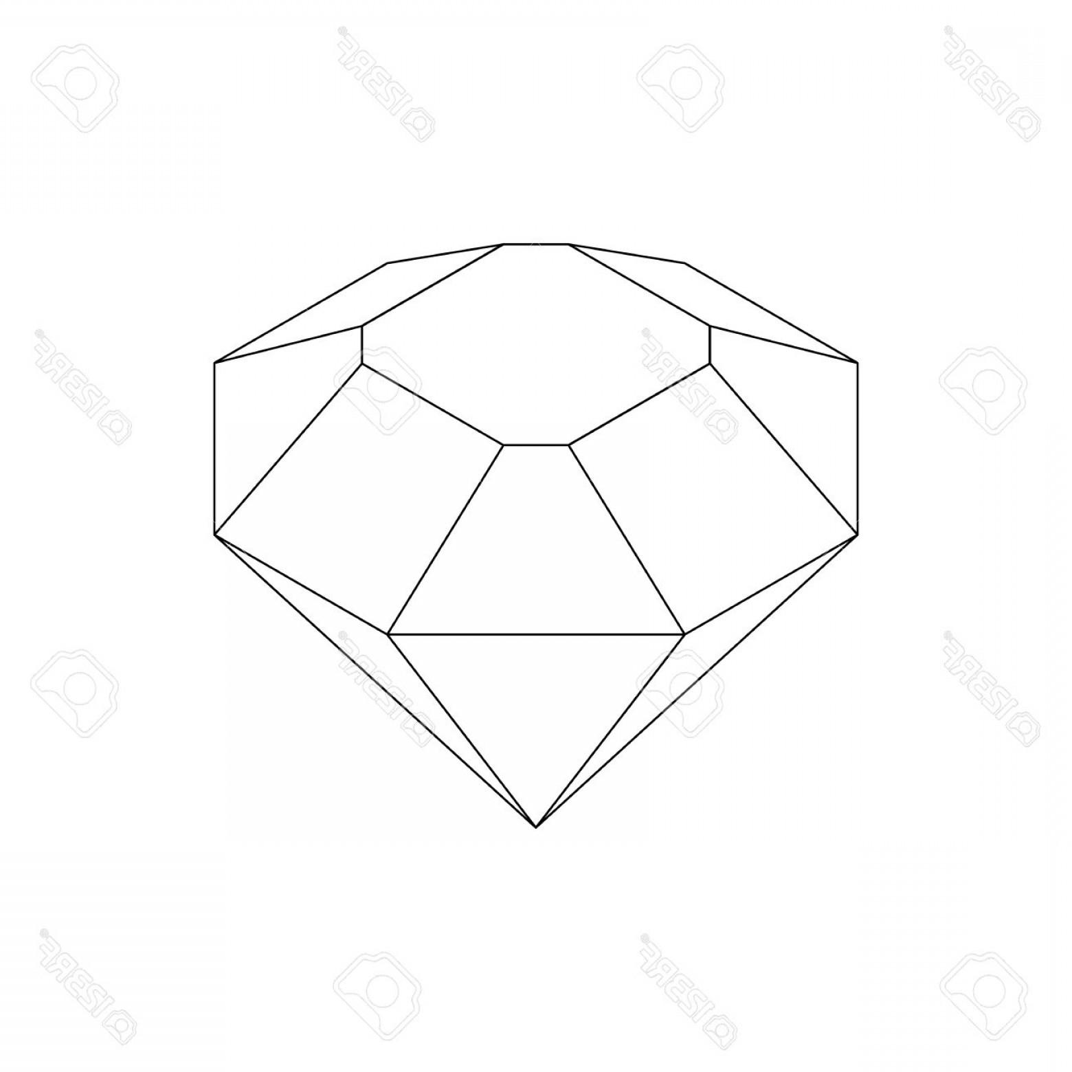 Diamond Drawing Vector
