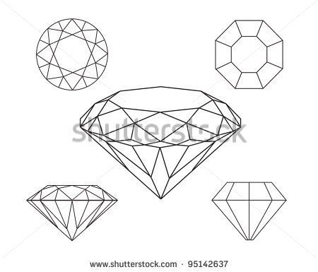 Diamond Drawing Vector At Getdrawings Com Free For Personal Use