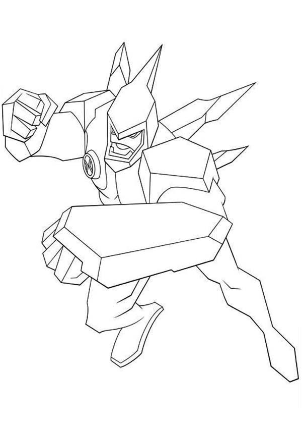 600x840 Diamondhead From Ben 10 Omniverse Coloring Page