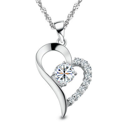 400x400 Beautiful Heart Hampa Swiss Diamond And 925 Sterling Silver Heart