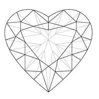 200x200 Broken Heart Midnight Stars Moon Heart Wings Cross Diamonds