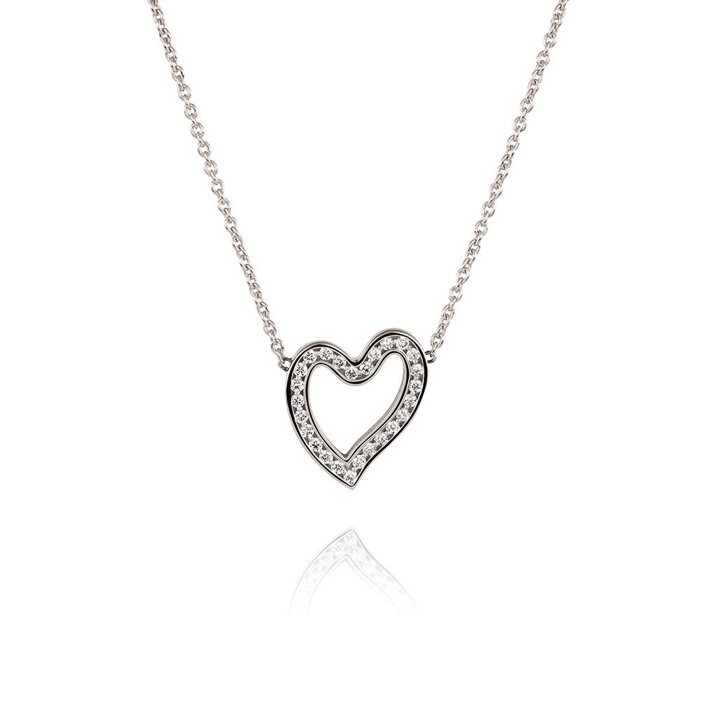 1020x1020 Heartfelt Collection Open Your Heart Pendant White Gold