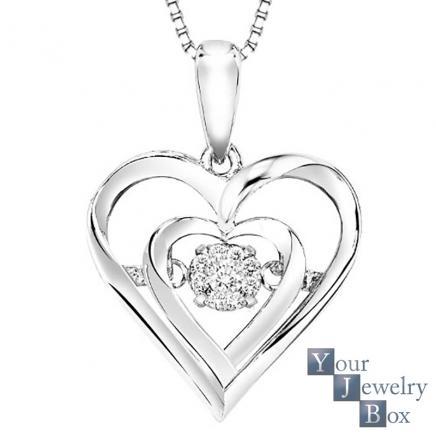 436x436 Rhythm Of Love Diamond Heart Necklace
