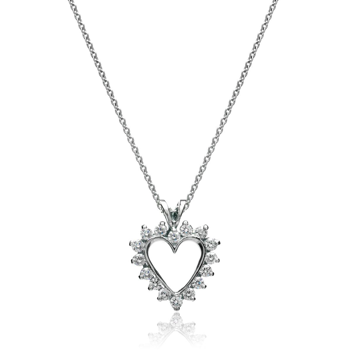 1200x1200 White Gold Diamond Heart Pendant Jm Edwards Jewelry