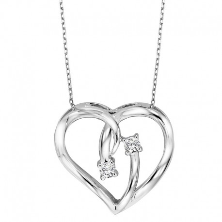 458x458 Diamond Heart Pendant By Twogether Collection