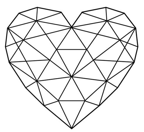 490x448 Afbeeldingsresultaat Voor Geometric Heart