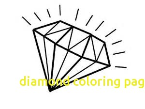 300x225 Diamond Coloring Page With Diamond Coloring Pages Diamond Coloring