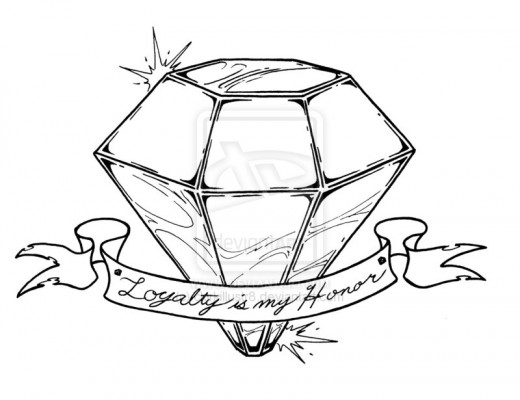 Diamond Outline Drawing