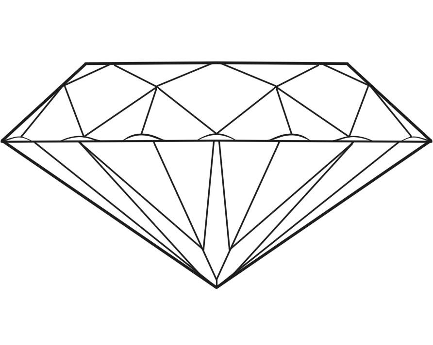 diamond sketch drawing