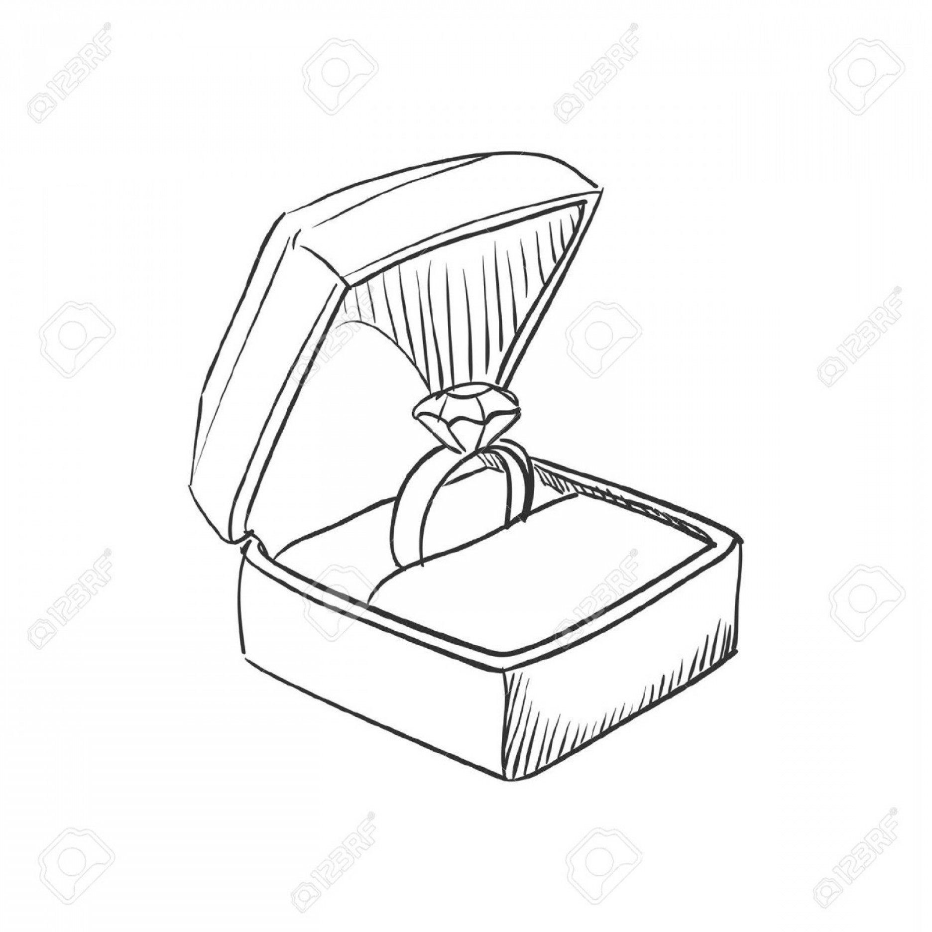 1872x1872 How To Draw A Ring In A Box Ring Drawing Easy How To Draw A Ring