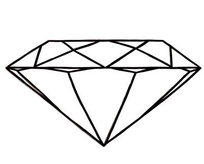 400x322 Diamond Shape Coloring Page