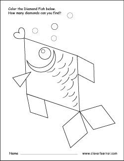 250x324 Free Diamond Shape Activity Sheets For Preschool Children