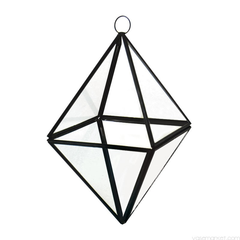 800x800 Hanging Terrarium Diamond Shape With Chain H 8 Vase Market